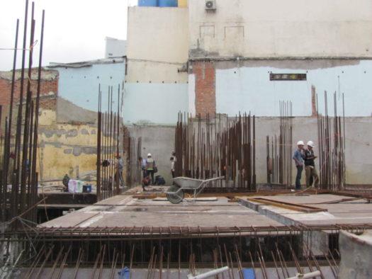 Монтаж колонн зданий на основе арматуры