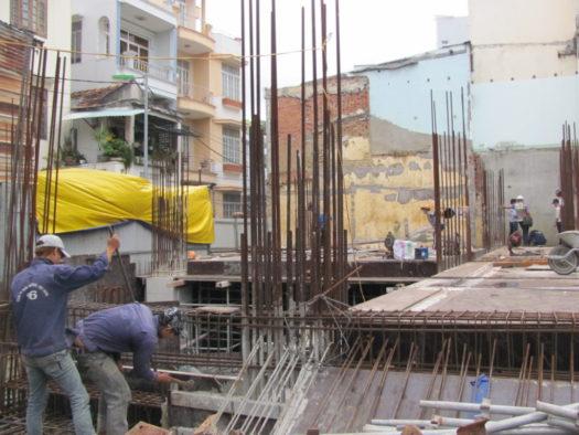 Монтаж высотных зданий в Нячанге, Вьетнам