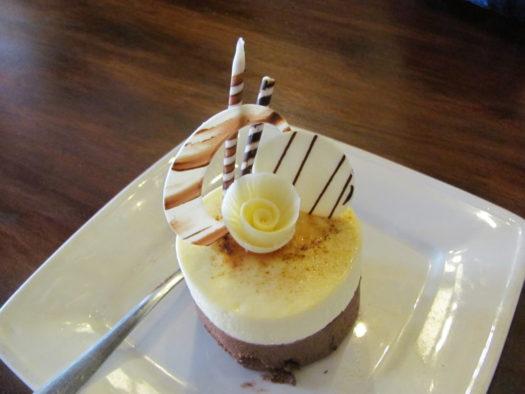 Пирожное в кофейне Хойана