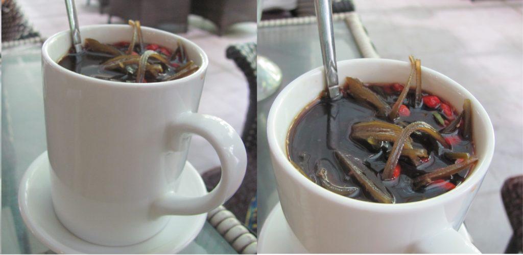 Чай из водорослей, кафе Gốc Tiên