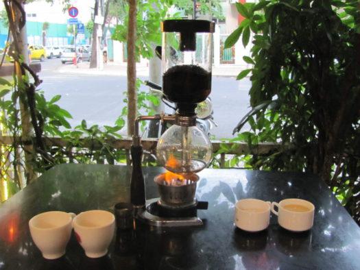Кофе в сифоне по-японски, кафе Gốc Tiên