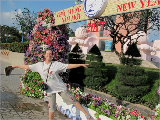Цветы на улицах Нячанга в Тет