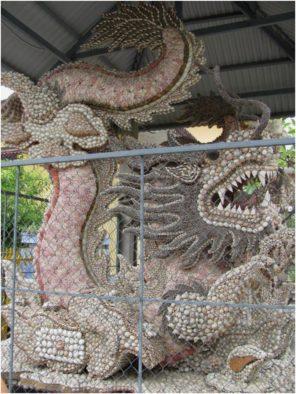 Дракон из ракушек в пагоде Từ Vân, Камрань