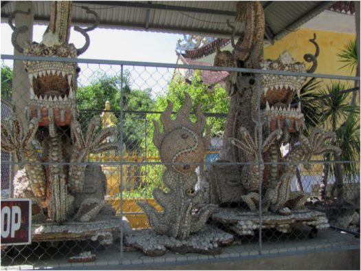 Драконы из ракушек в пагоде Từ Vân Камраня