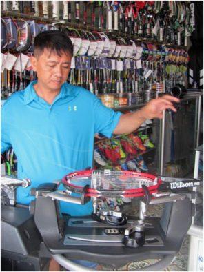 Магазинчик-мастерская по продаже и изготовлению теннисных ракеток