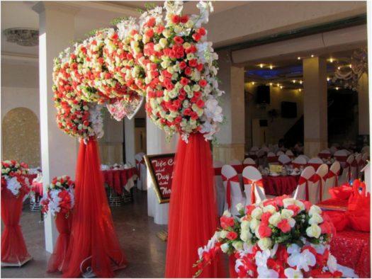 Оформление ресторана к свадьбе в Нячанге