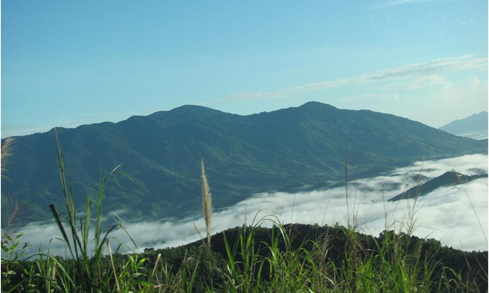 Туман в долине по пути в Далат, Вьетнам