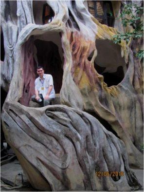 Лестница Крейзи Хаус (Crazy House) в виде ствола дерева, Далат, Вьетнам
