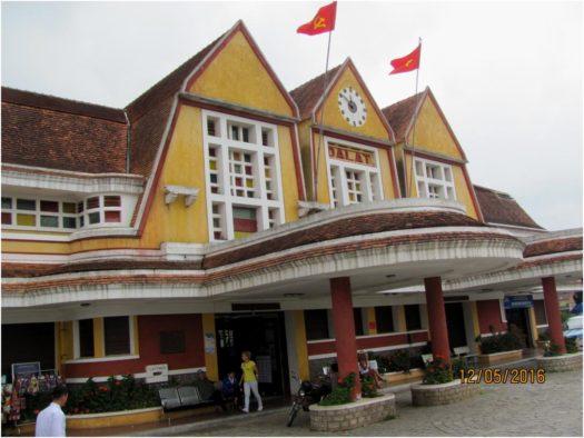Старинный железнодорожный вокзал Далата, Вьетнам