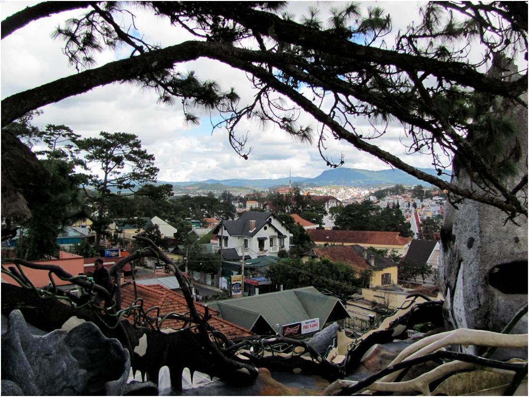 Вид на Далат с Crazy House, провинция Лам Донг