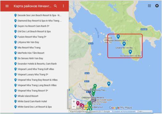 Отели побережья Ninh Van Bay
