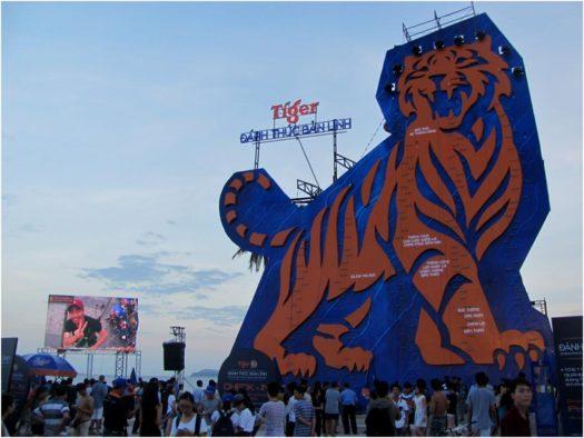 Скалодром на фестивале пивной компании Tiger