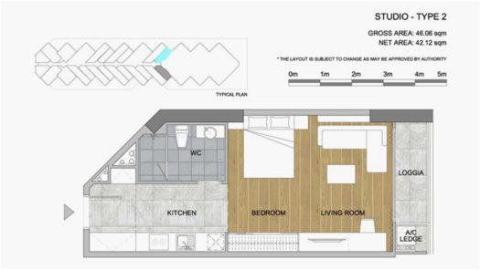 Квартира-студия в Scenia Bay