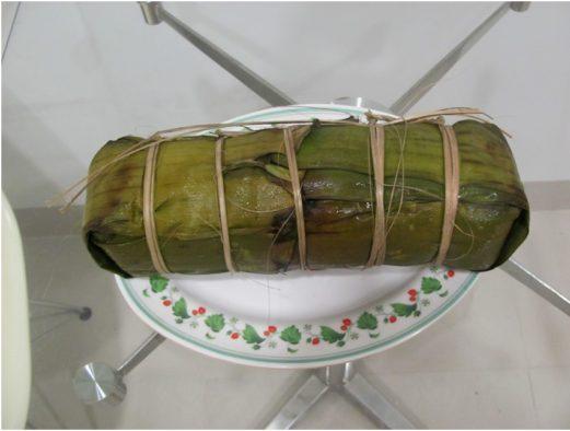 Южное вьетнамское новогоднее блюдо banh tet