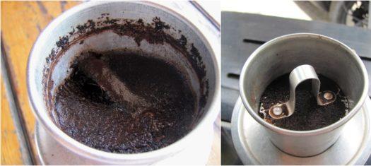 Поддельный и настоящий кофе в фине