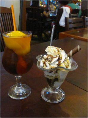 Персиковый чай и мороженое в кофейнях Нячанга