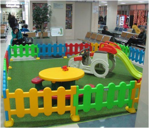 Детский уголок в аэропорту Хабаровска