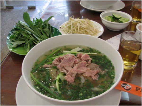 Суп фо бо в Хошимине
