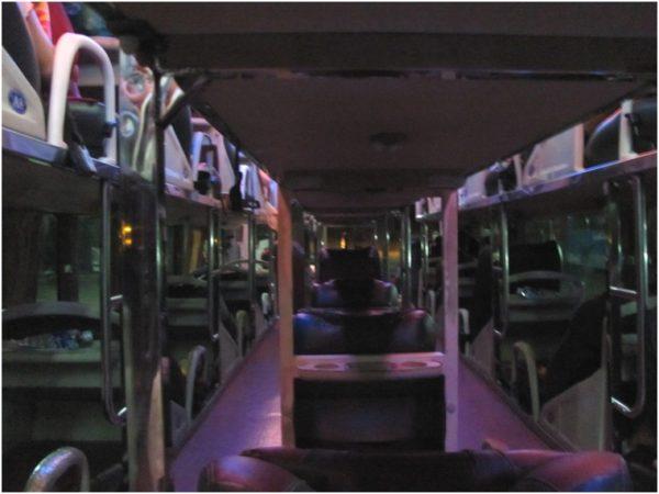 Спальный автобус изнутри