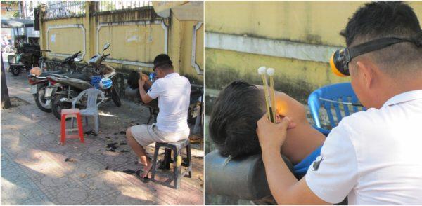 чистка ушей во Вьетнаме