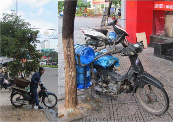 перевозка грузов во Вьетнаме на мотобайках