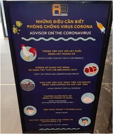 Плакат про коронавирус в Нячанге