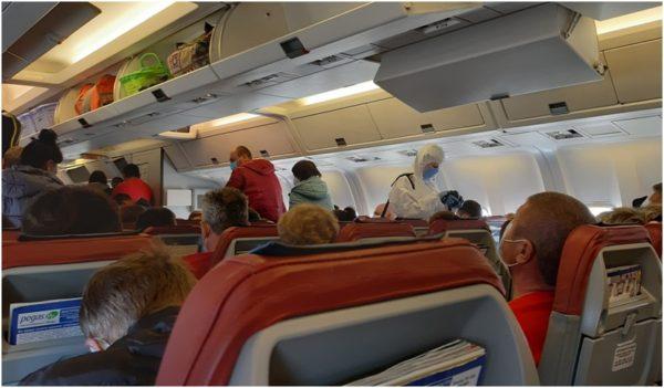 Температурный контроль в самолете после посадки